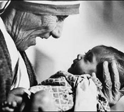 Mutter Teresa Mit Baby in