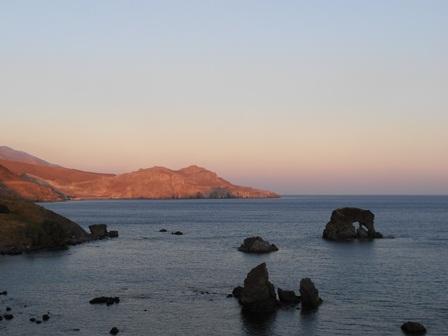 Kreta Lendas Meer Sonnenuntergang in